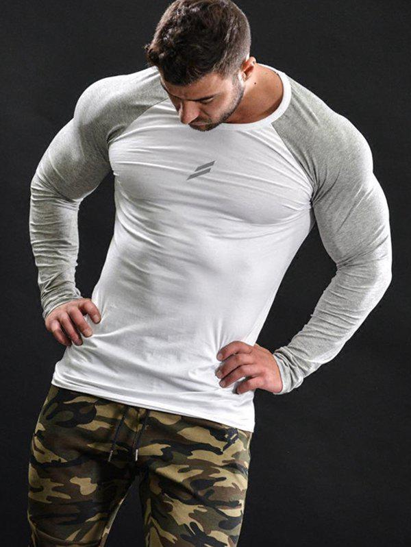 Online Sports Long-sleeved T-shirt Men's Quick-drying Compression Running Fitness Training