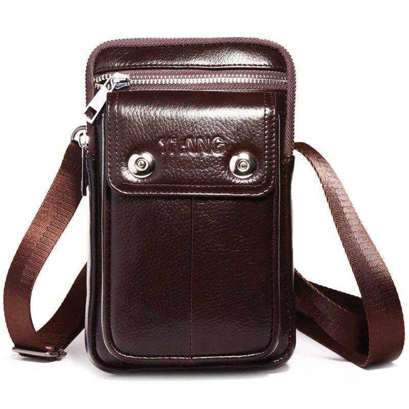 77ade4378a6c Men's Pockets Wear Belt Vertical Multi-functional Korean Leather Shoulder  Messenger Bag