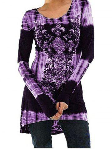 Fashion Printed Long Sleeved Dress