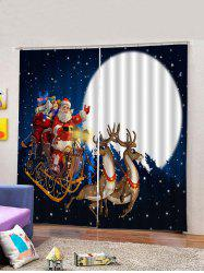 2Pcs Christmas Car and Santa Window Curtains -