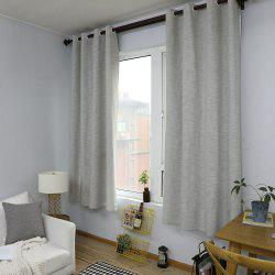 Solid Color Cotton Linen Simple Modern Curtain -