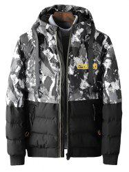 Camouflage Winter Thick Cotton Coat for Men -