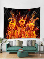 Flame Skeleton Print Tapestry Wall Hanging Decoration -