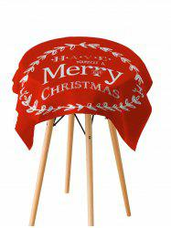 Merry Christmas Pattern Fabric Waterproof Table Cloth -