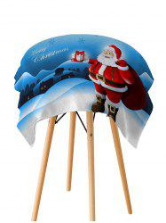 Father Christmas Gift Printed Fabric Waterproof Table Cloth -
