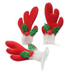Christmas Activity Cotton Hair Clips Antlers / Hat Headwear 2pcs -