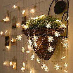 5 Meters 50 LED Snowflake String Lights for Decoration -