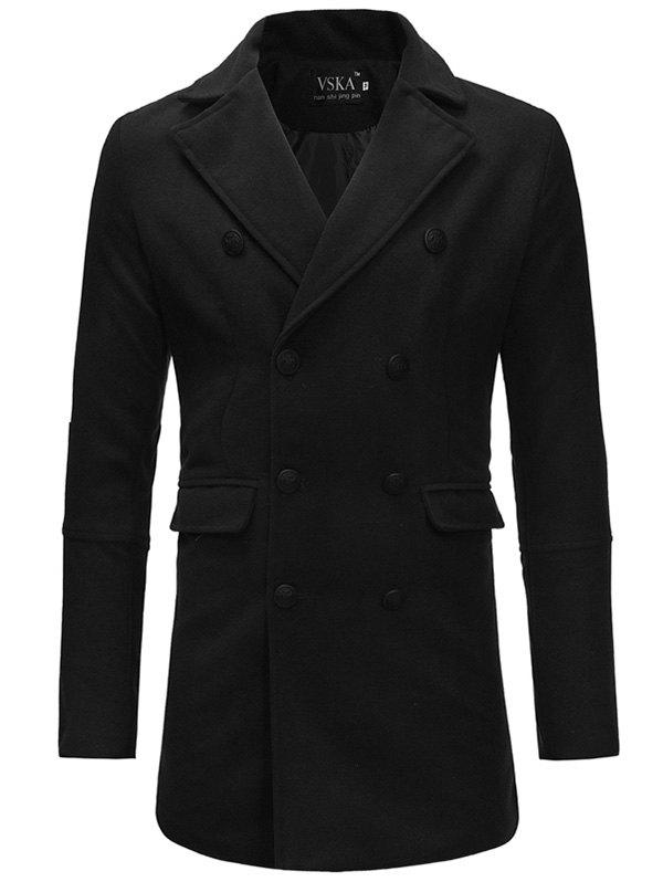 Best Men Fashionable Turn-down Collar Slim Trench Coat