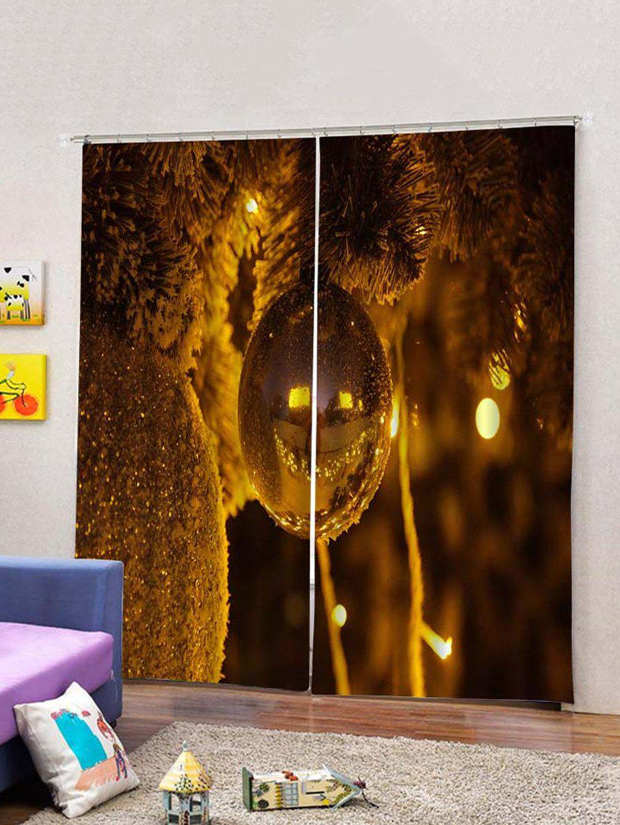 Outfits 2Pcs Christmas Tree and Tree Window Curtains