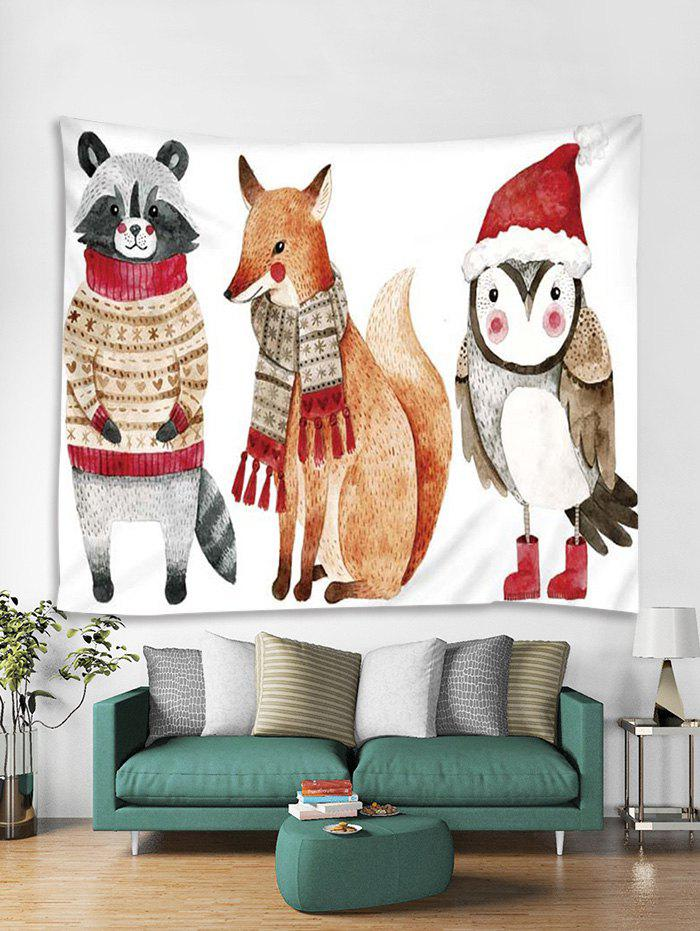 Christmas Animals Print Tapestry Wall Hanging Decoration