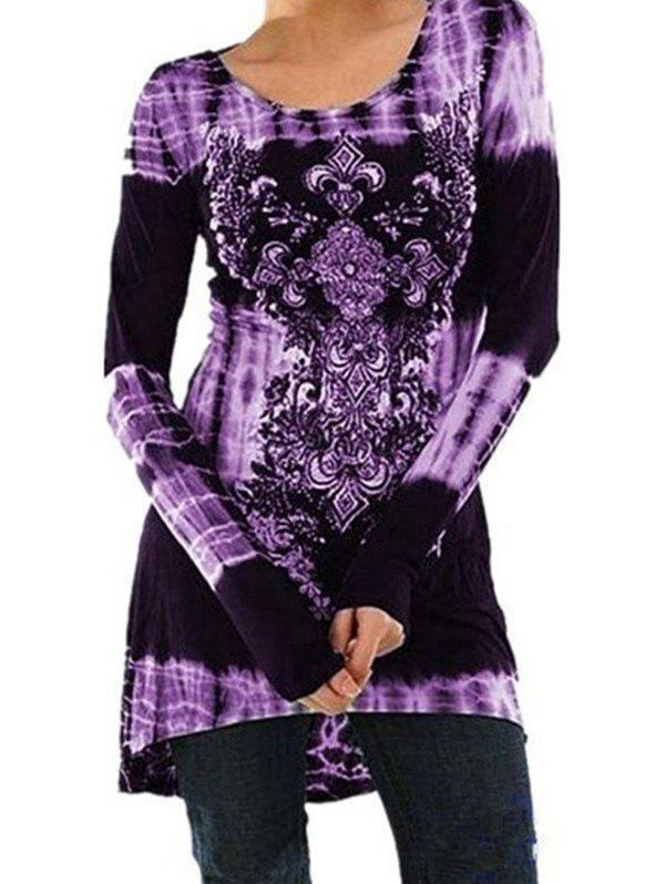 Hot Fashion Printed Long-sleeved Dress