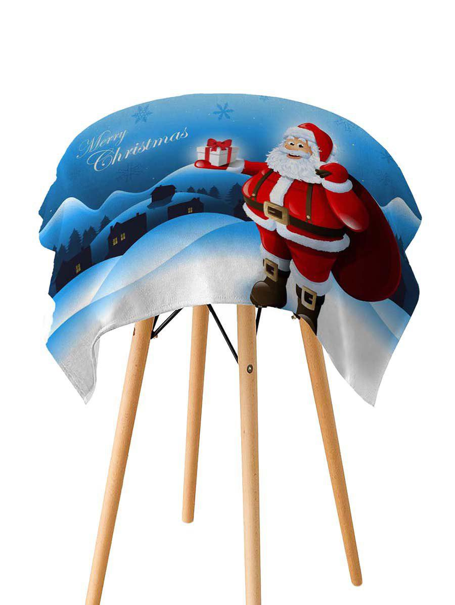New Father Christmas Gift Printed Fabric Waterproof Table Cloth