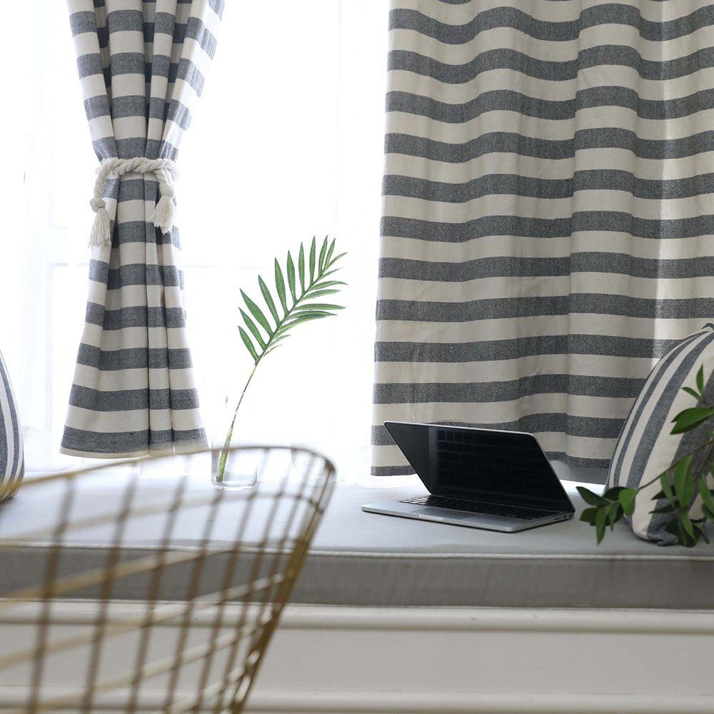 Affordable Double-sided Cotton Striped Simple Modern Curtain