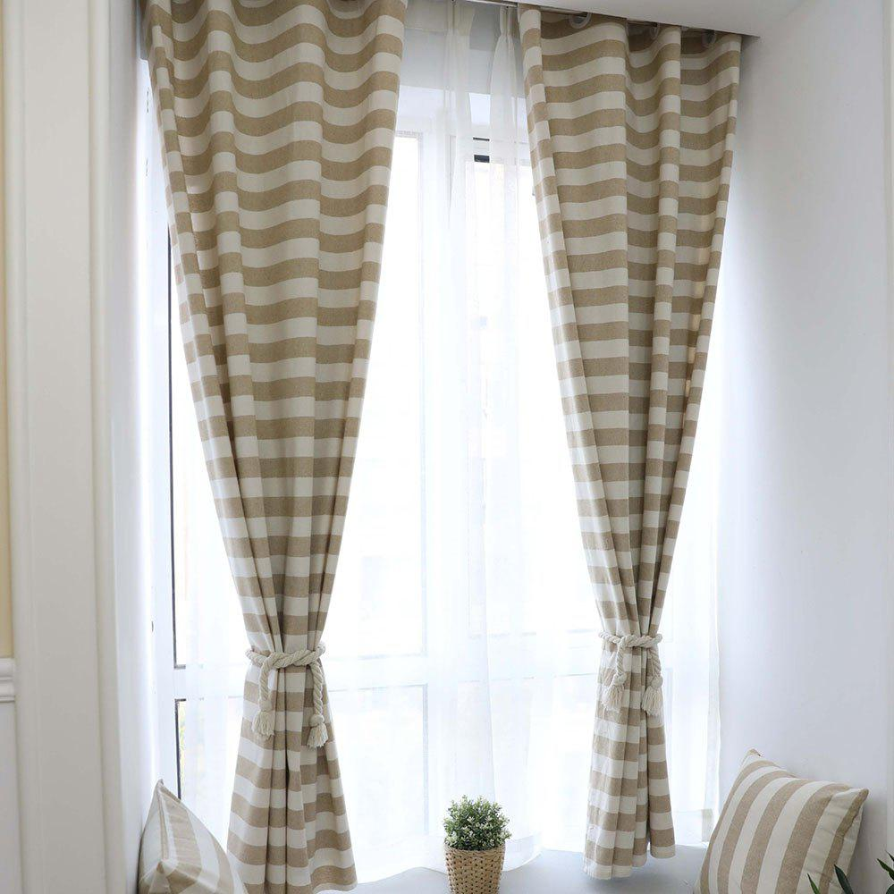 Hot Double-sided Cotton Striped Simple Modern Curtain