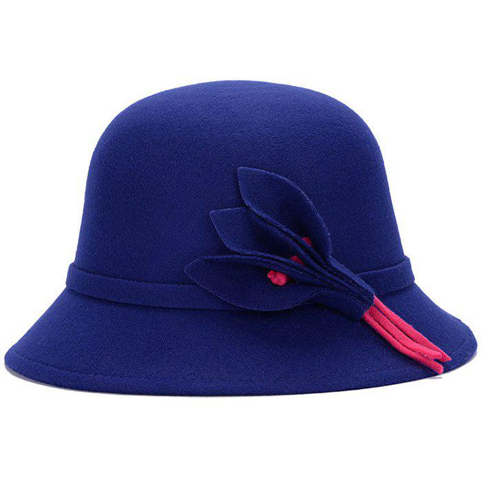 2019 Felt Hat Ladies Fashionable Leaves Windproof Jazz Cap  8325c260dcc