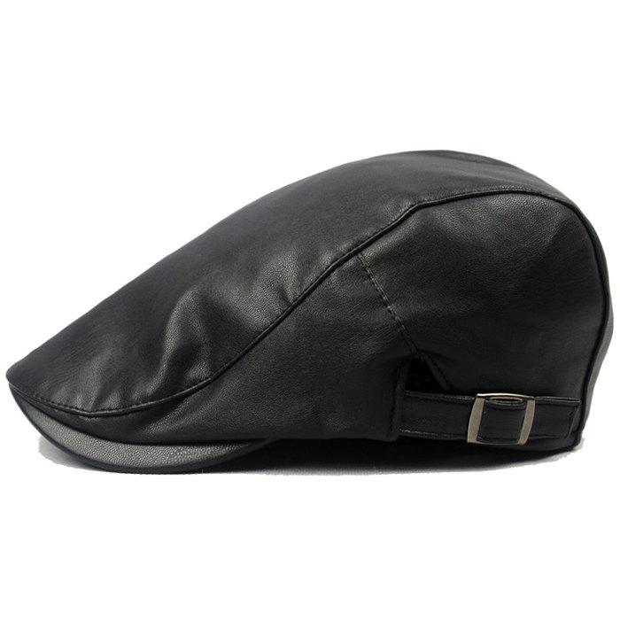 Outfit Fashionable Men's Leather Beret
