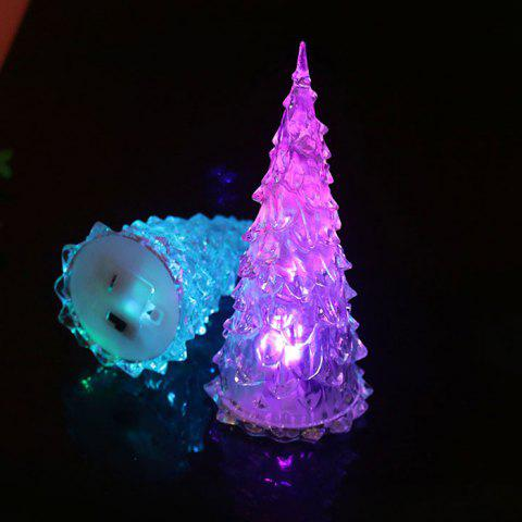 Colorful Crystal Acrylic Luminous Christmas Tree Flash Light