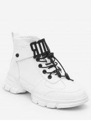 Letter Strap High Top Lacing Sneakers -