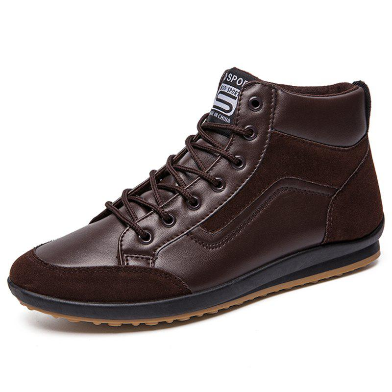 Fashion Men Leisure High-top Boots Casual Lace-up