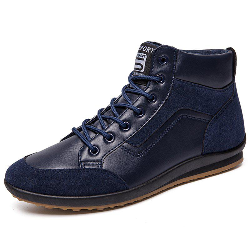 Chic Men Leisure High-top Boots Casual Lace-up