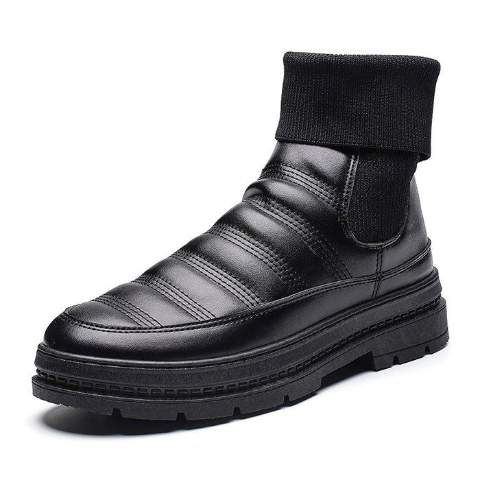 42 Off 2018 Men Warm Leisure Slip On Snow Boots In Black Eu 42