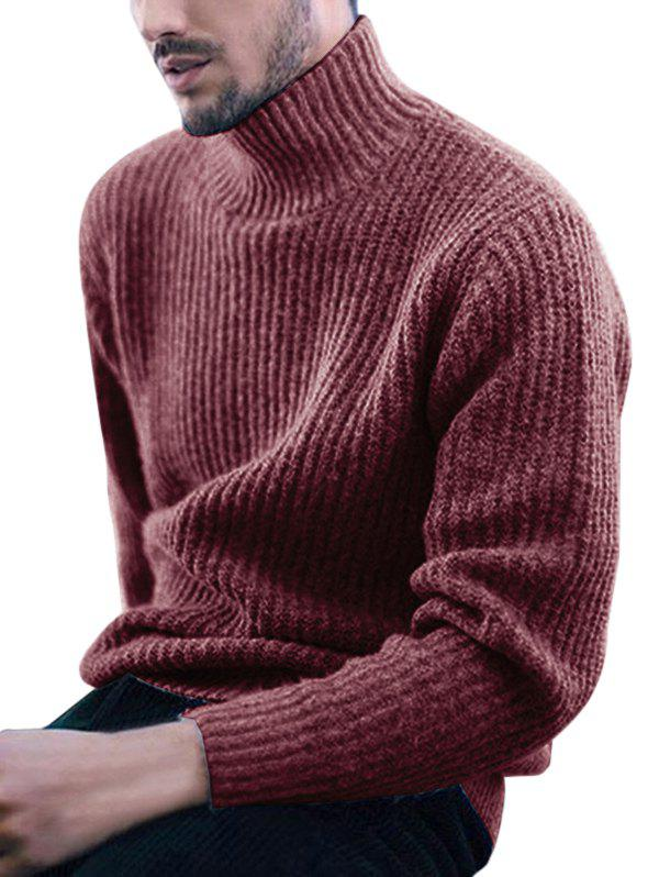 Store Solid Color Long-sleeve Sweater