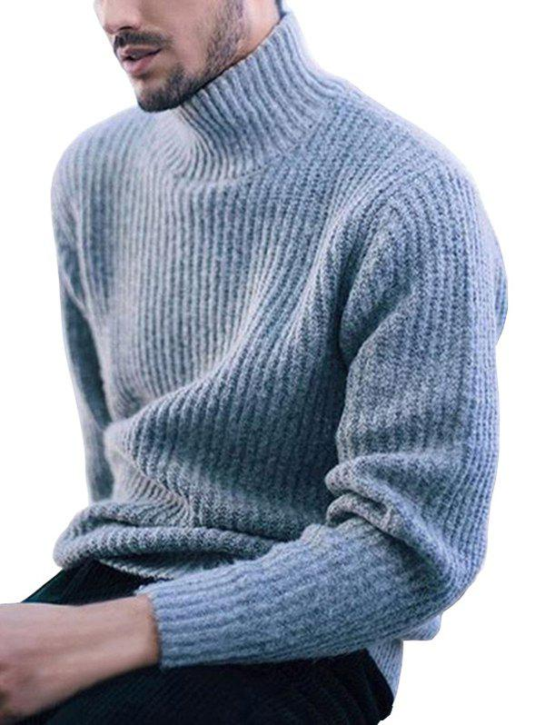 Affordable Solid Color Long-sleeve Sweater