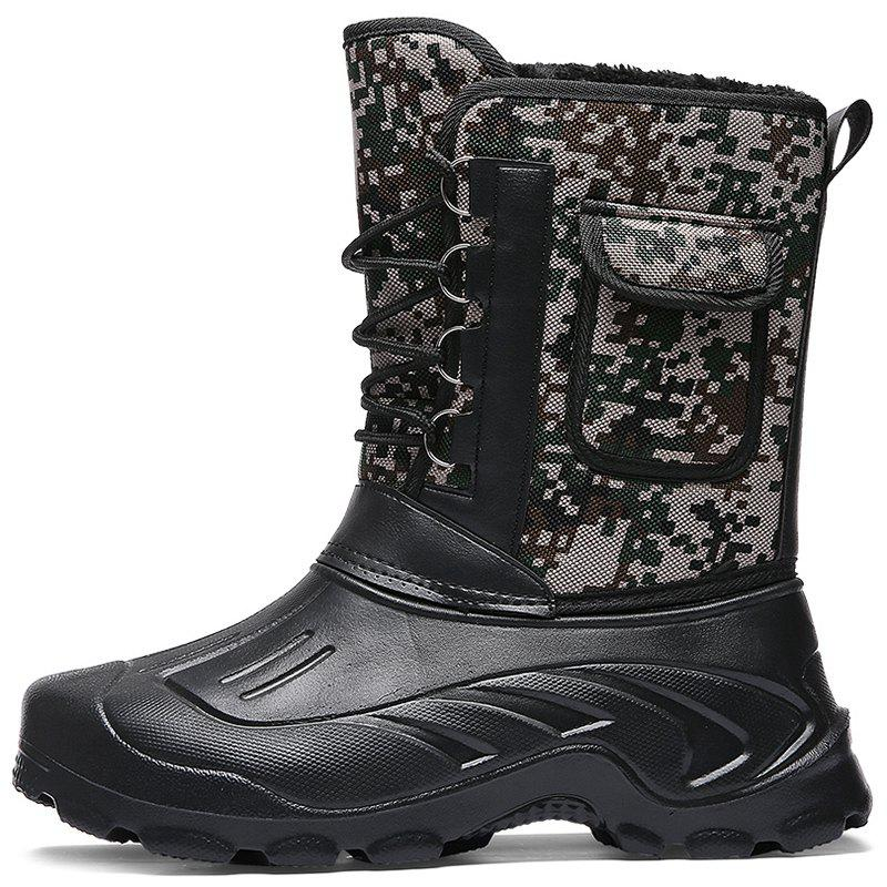 Fashion Male High-top Waterproof Boots