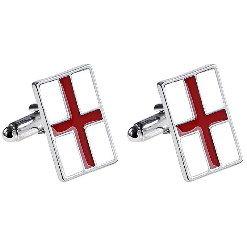 Affordable Men's French Shirt Fashion Red Cross Cufflinks