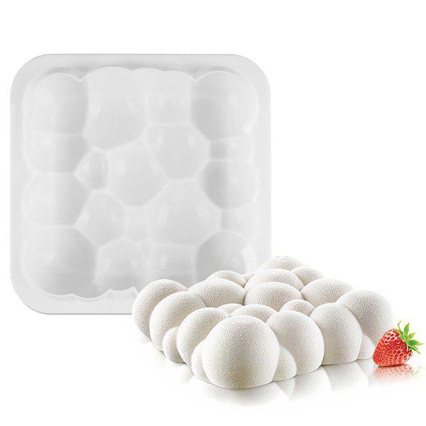 Square Auspicious Cloud Bubble Silicone Food Grade Baking Mousse Cake Mold