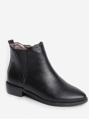 Plus Size Pointed Toe Chelsea Ankle Boots