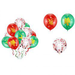 Christmas Balloon Latex 12 Inch Bronze 5 Faces All Printed Color Round Christmas Balloons 34pcs -