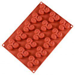Cake Gyro Style Biscuit 15 Even Silicone Baking Mold -