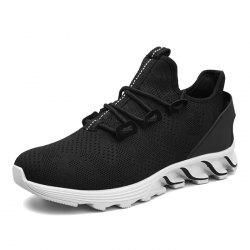 Casual Shoes Black White Red -