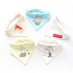 Cotton Baby Double Button Newborn Child Turban Bib 5pcs -