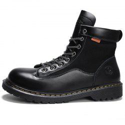 Men Fashionable Wear-resistant Solid Leisure High-top Boots -
