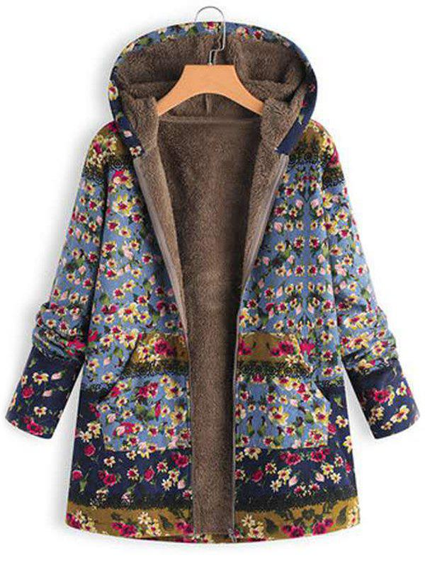 Discount Printed Hooded Sweater Warm Parka