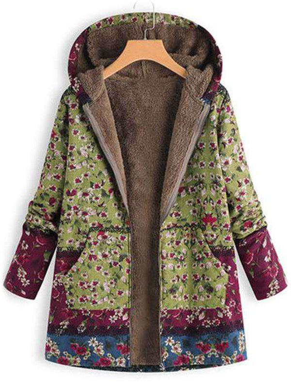 Hot Printed Hooded Sweater Warm Parka