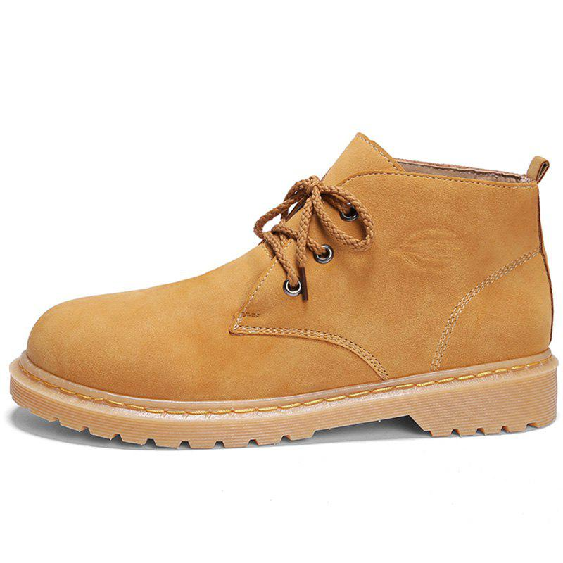 Affordable Men Stylish Wear-resistant Solid Leisure Medium Boots