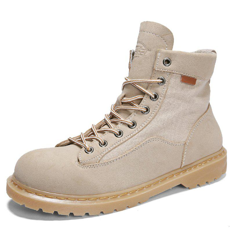Chic Men Fashionable Wear-resistant Solid Leisure High-top Boots