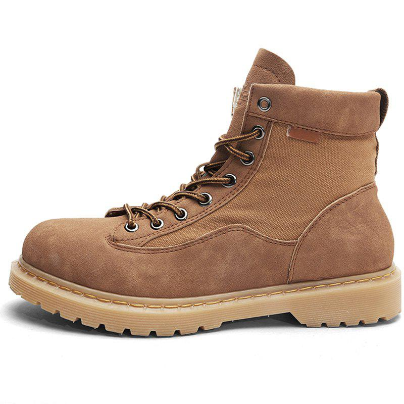 Store Men Fashionable Wear-resistant Solid Leisure High-top Boots