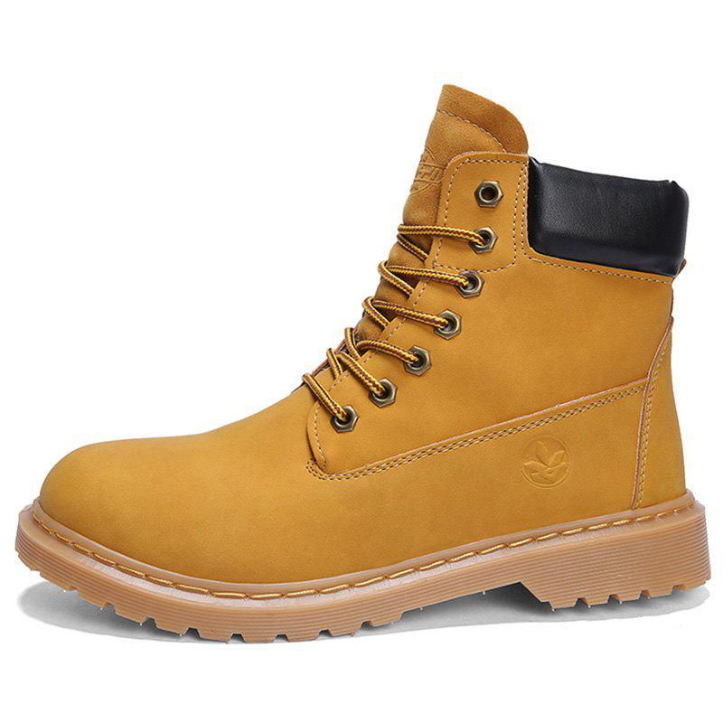 Buy Men Fashionable Wear-resistant Leisure High-top Boots