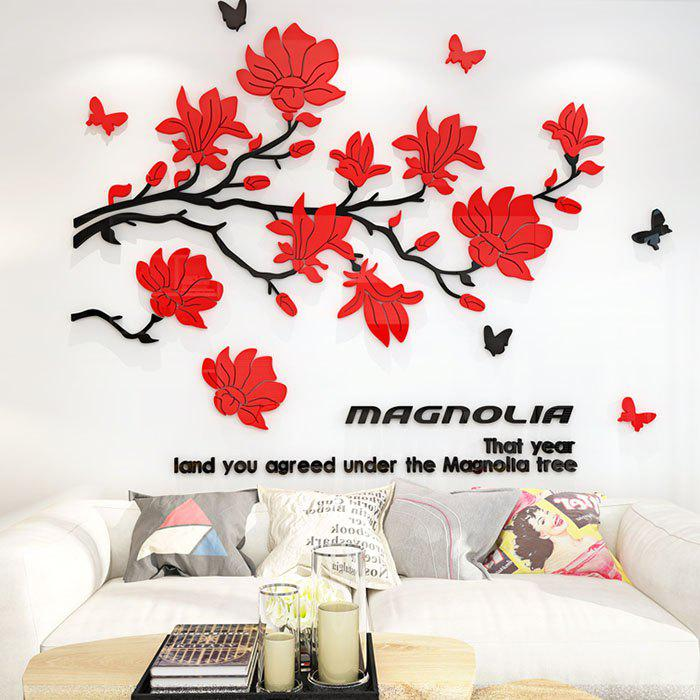 Fashion C1096 Magnolia Acrylic Stereo Wall Stickers