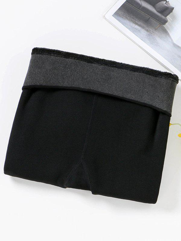 Shops Thick High-density Nylon Color Waist Smiley Layered Leggings Wear Warm One-piece Pants