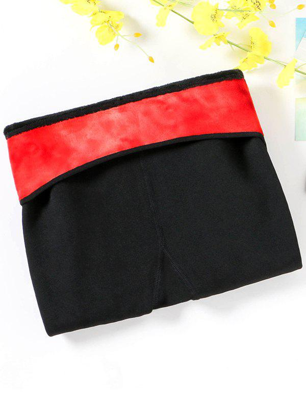 Fancy Thick High-density Nylon Color Waist Smiley Layered Leggings Wear Warm One-piece Pants