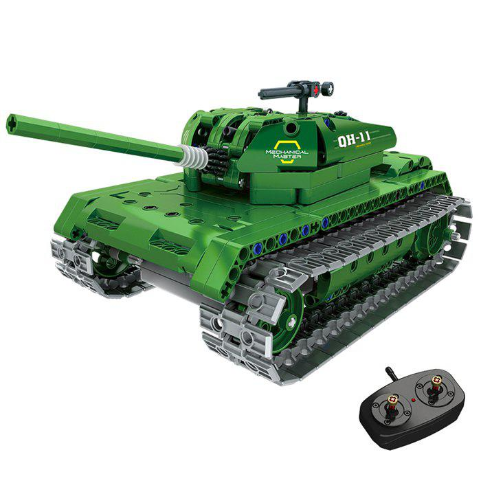 Latest 2.4G Electric RC Military Tank Assembling Building Blocks Children's Educational Puzzle Insert Toy
