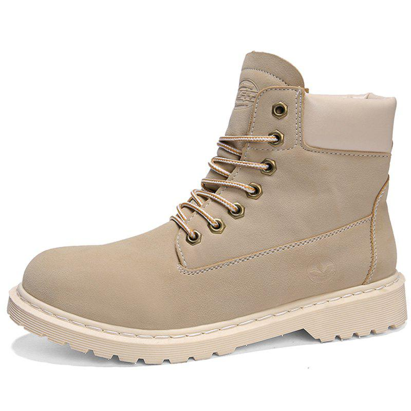 Discount Men Fashionable Wear-resistant Leisure High-top Boots