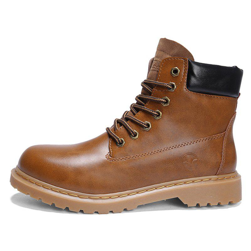 Shops Men Fashionable Wear-resistant Leisure High-top Boots