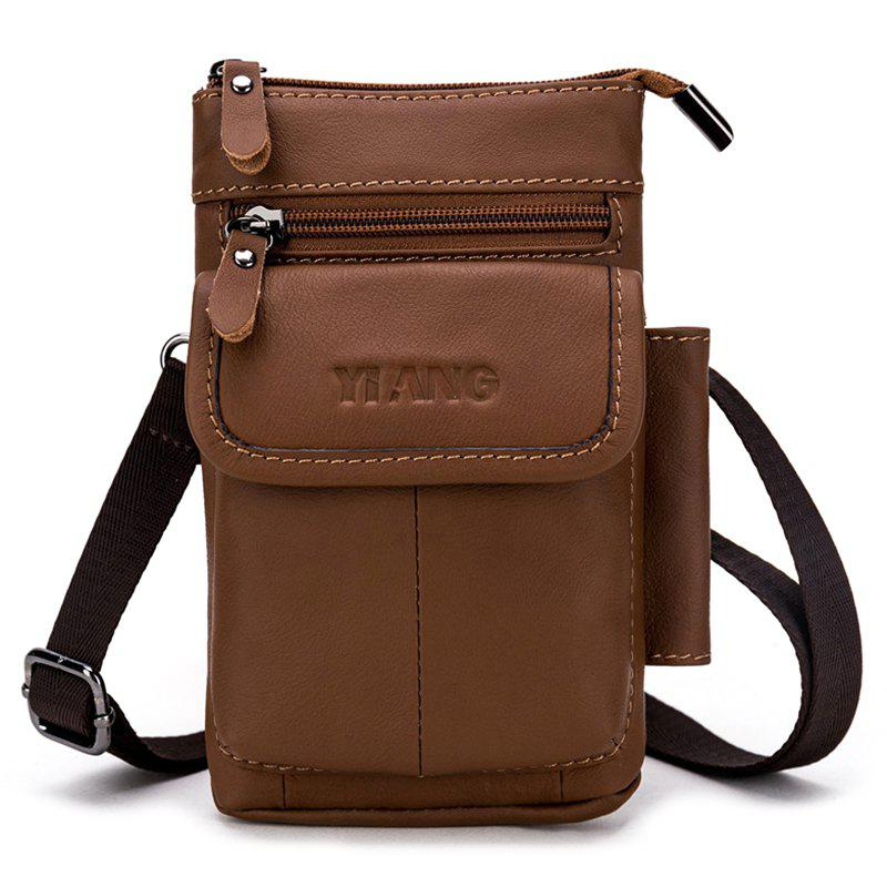 c75432f4a0a2 2019 Men s Leather Belt Multi-function Hook Mobile Phone Shoulder ...