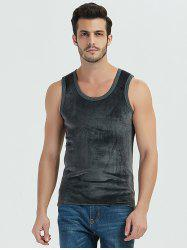 Autumn / Winter Man Warm Double-faced Velvet Thickening Solid Color Vest -